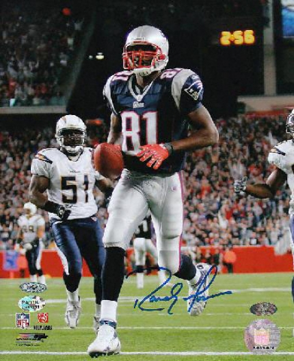 Randy Moss New England Patriots - Action - Autographed 8x10 Photograph