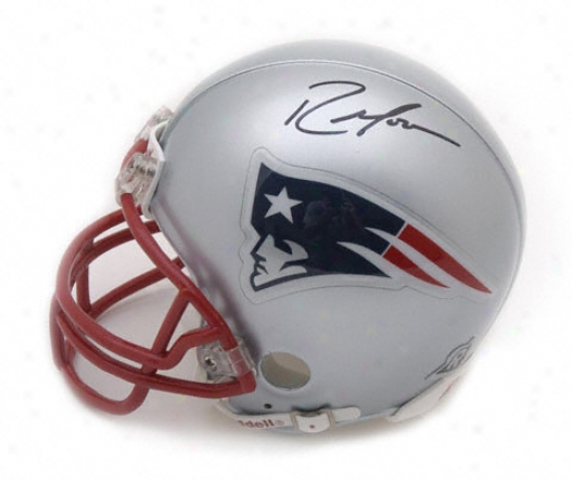 Randy Moss New England Patriots Autographed Mini Helmet