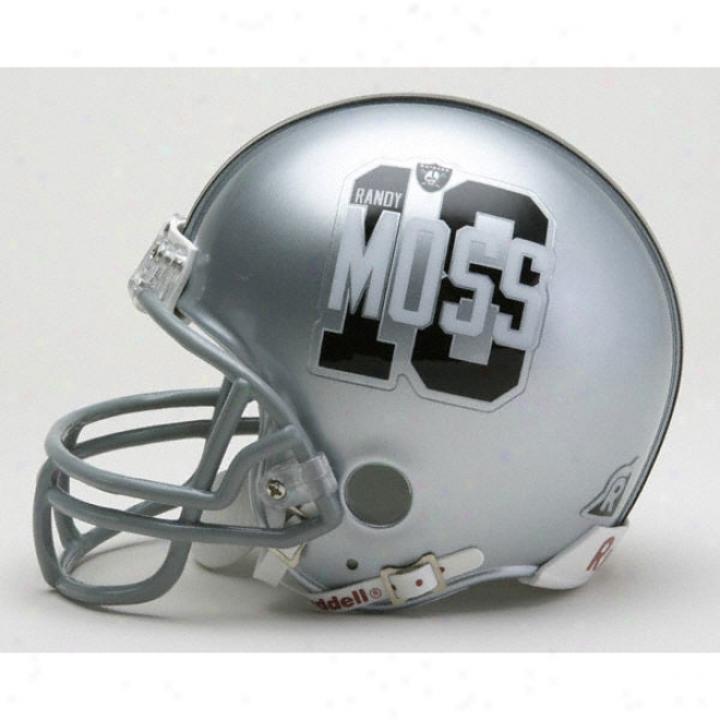 Randy Moss Oakland Raiders Replica Riddell Mini Helmet