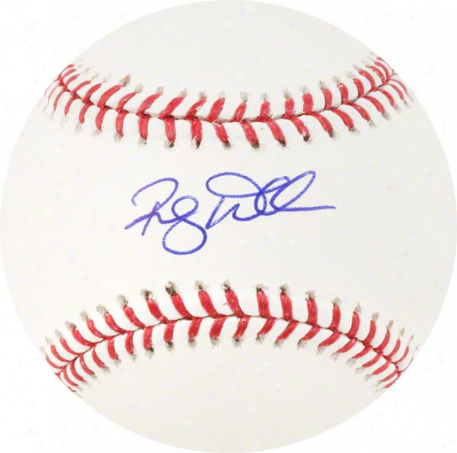 Randy Wells Autographed Baseball
