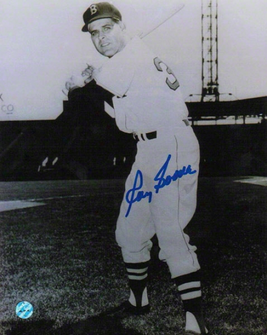 Ray Boone Autographed Boston Braves 8x10 Photo