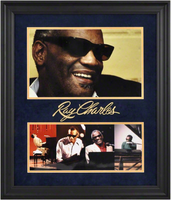 Ray Charles Framed Photographs  Particulars: 16x10, 16x7, Limited Editon Of 100