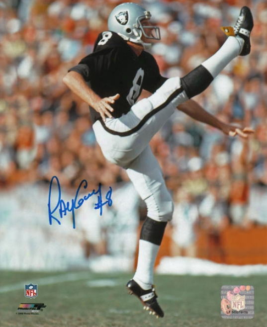 Ray Guy Oakland Raiders - Punting - Autographrd 8x10 Photograph