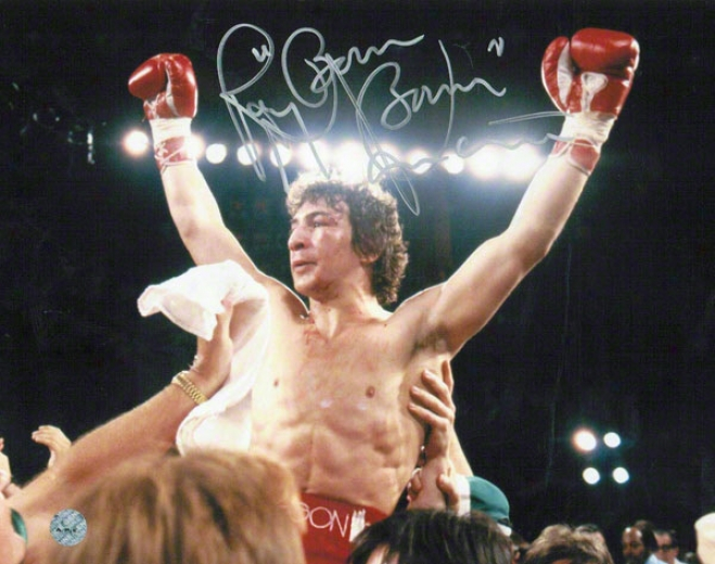 Ray Mancini Autographed 8x10 Photo Inscribed Boom Boom