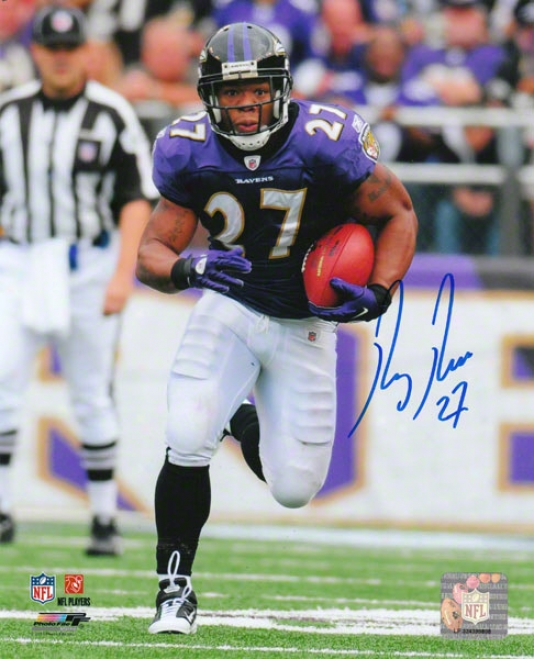 Ray Rice Autographed Photograph  Details: Baltimore Ravens, 8x10