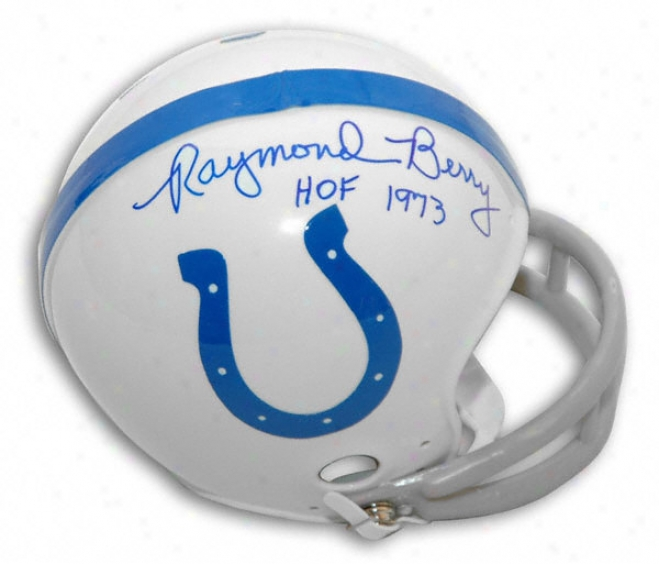 Raymond Berry Baltimore Colts Autographed Mini Helmet With ''hof 1973'' Inscription