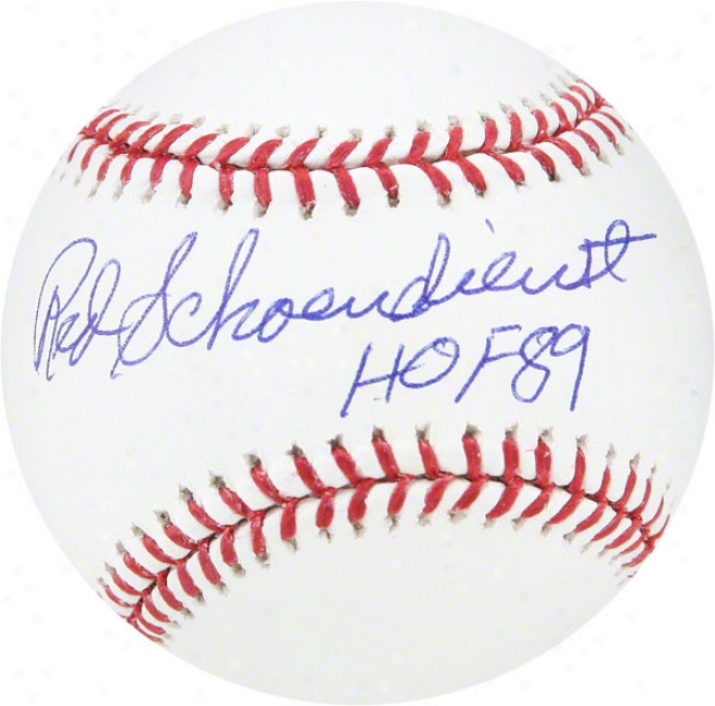 Red Scheondienst St. Louis Cardinals Baseball W/ Inscription &quothof 89&quot