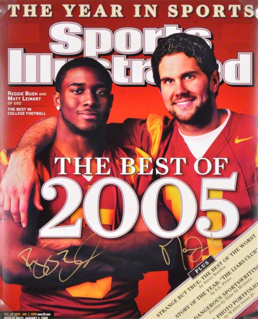 Reggie Bush And Matt Leinart Usc Trojans 16x20 Autographed Photograph