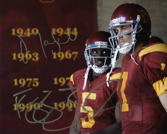 Reggie Bush And Matt Leinart Usc Trojans - Championship Years - Autographed 8x10 Photograph