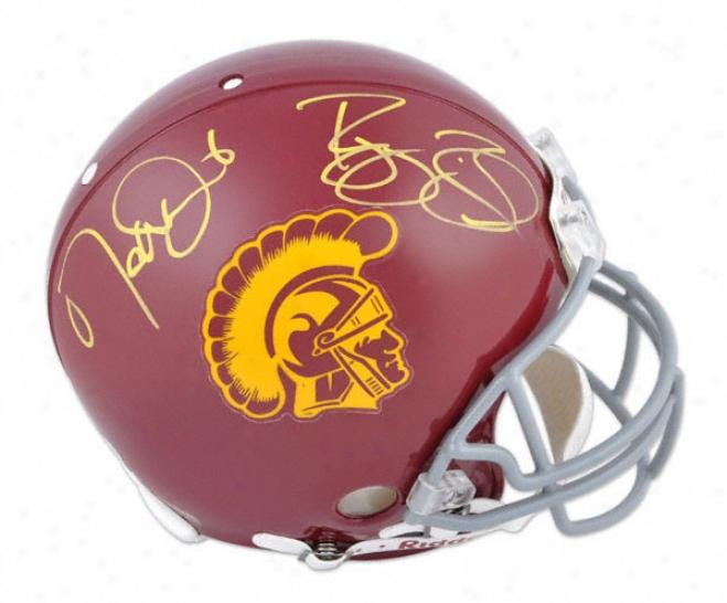 Reggie Bush & Matt Leinart Autographed Pro-line Helmet  Details: Usc Trojans, Authentic Riddell Helmet