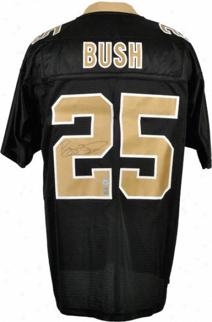 Reggie Bush New Orleans Saints Autographed Reebok Eqt Jersey