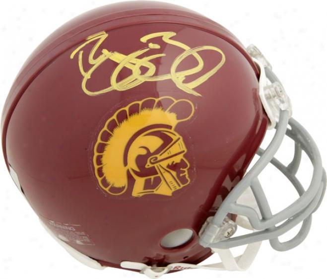 Reggie Bush Usc Trojans Autographed Riddell Mini Helm