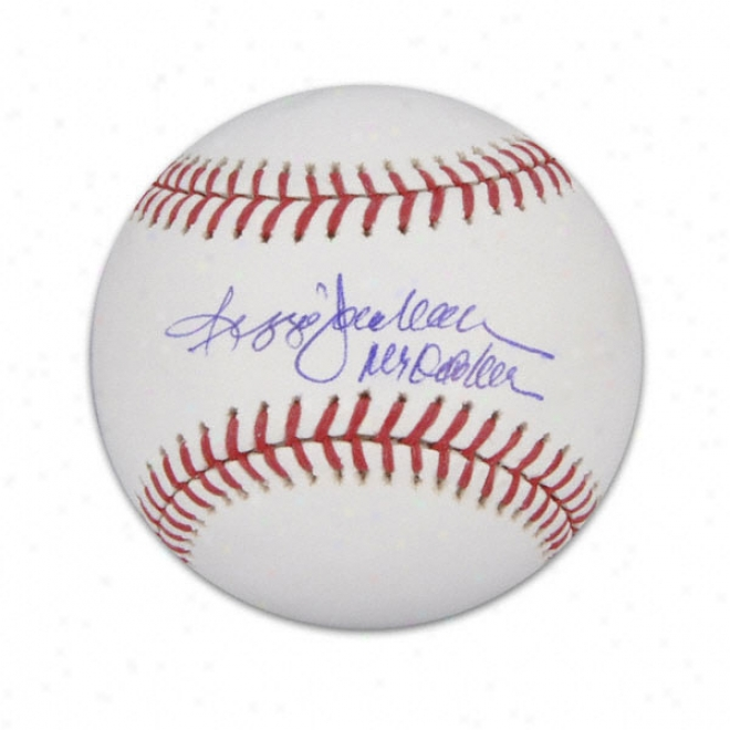 Reggie Jackson Autographed Baseball  Details: Mr October Insdription