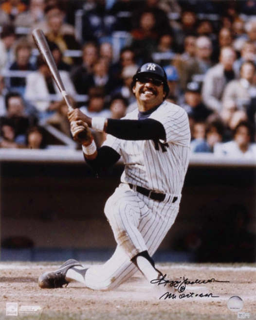 Reggie Jackson New Yor kYankees Autographed 16x20 Photograph Witb Mr October Inscription