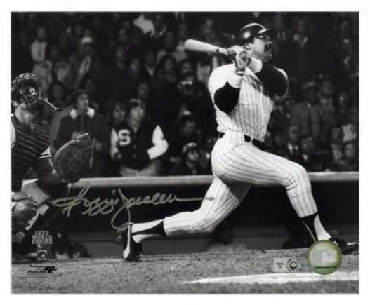 Reggie Jackson Recent York Yankees - Hitting Side - Autographed 8x10 Photograph