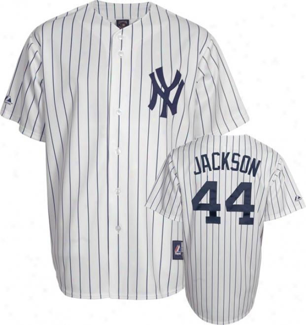 Reggie Jackson New York Yankees Pinstripe Cooperstown Replica Jersey