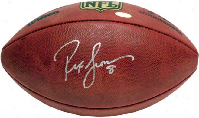 Rex Grossman Autographed Football  Details: Pro Footbwll
