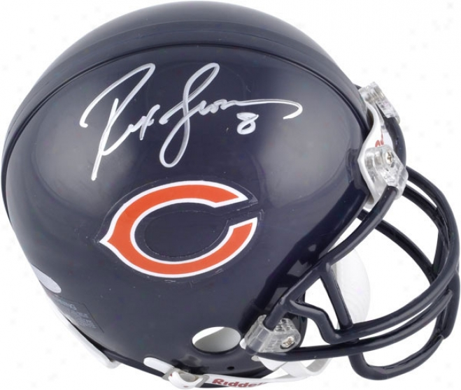 Rex Grossman Chicago Bears Autographed Mini Helmet