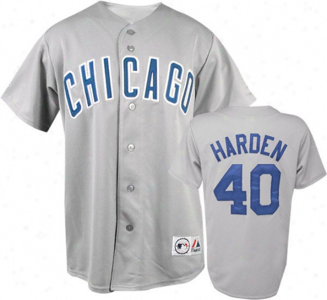 Splendid Harden Grey Majestic Mlb Road Replica Chicago Cubs Jersey