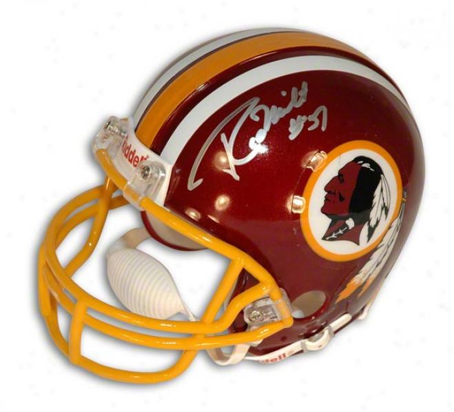 Rich Milot Autographed Washington Redskins Mini Helmet