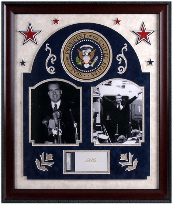 Richard Nixon Deluxe Framed Autograpph Photograph