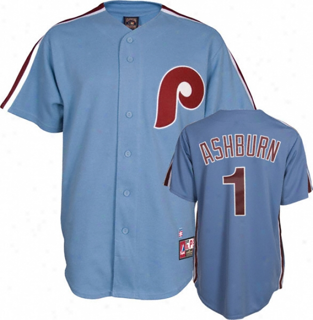 Richie Ashburn Philadelphia Phillies Light Blue Cooperstown Replica Jersey
