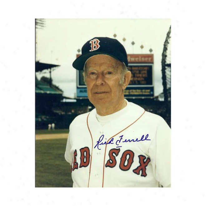 Rick Ferrell Autographed Boston Red So 8x10 Photo Hall Of Famer