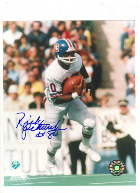 Rick Upchurch Autogra;hed Denver Bdoncos 8x10 Photo