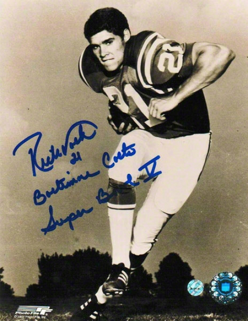 Rick Volk Autographed Baltimore Colts 8x10 Photo Inscdibed &quotbaltimore Colts Super Bowl V&quot