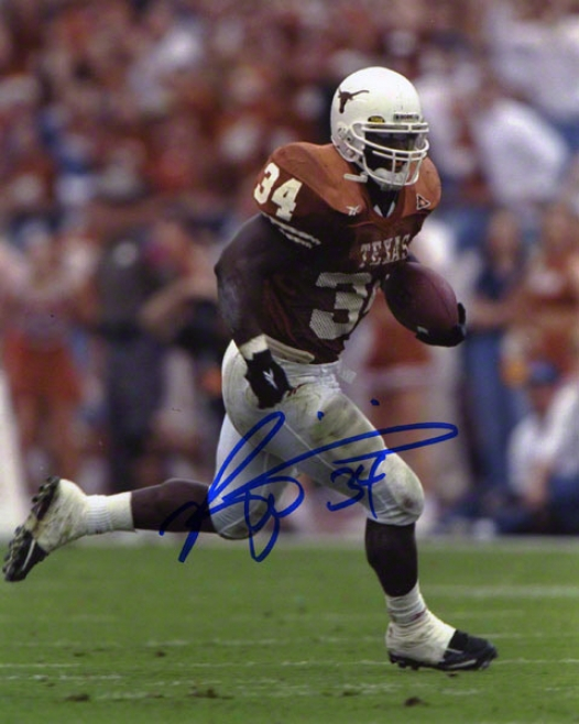 Ricky Williams Texas Lojghorns Autographed 8x10 Photo