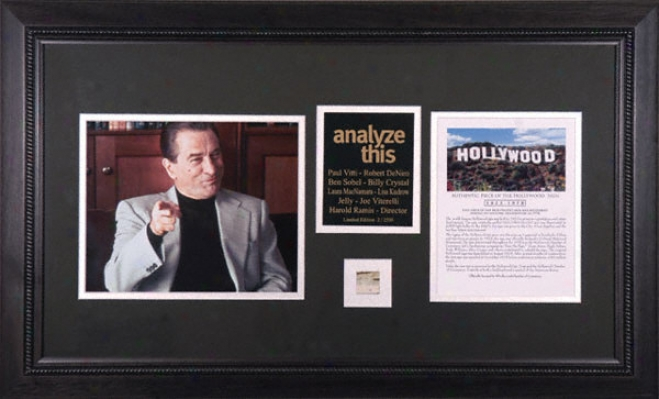 Robert De Niro - Analyze This - Framed 8x10 Photograph With Poece Of Hollywood Sign