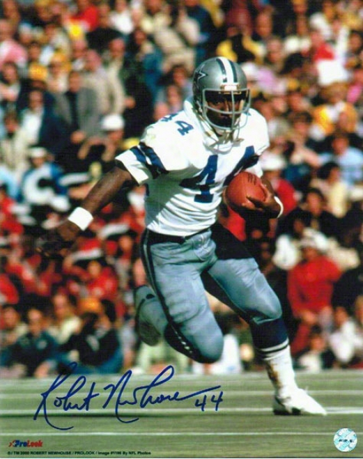 Robert Newhouse Autographed Dallas Cowboys 8x10 Photo