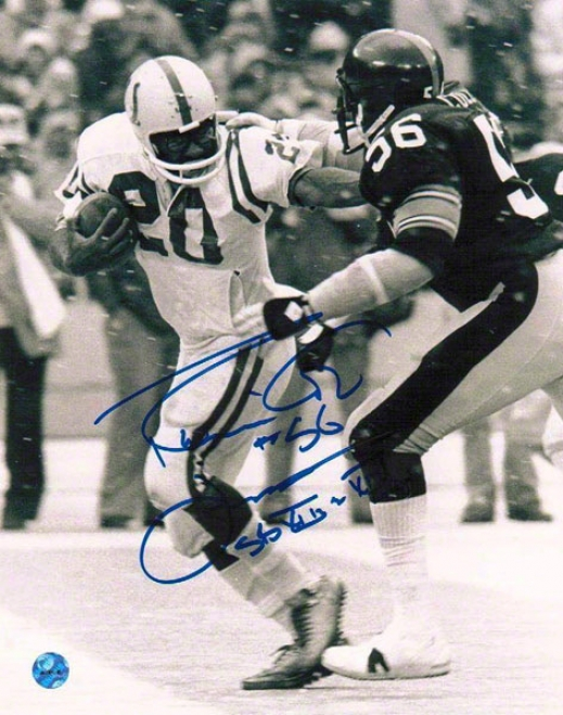 Robin-redbreast Cole Pittsburgh Steelers Autographed 8x10 Photograph By the side of Sb Xiii & Sb Xiv Inscription