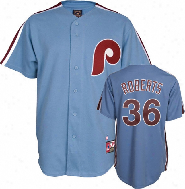 Robin Roberts Philadelphia Phillies Light Blue Cooperstown Replica Jersey
