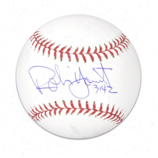 Robin Yount Autographed Baseball  Details: 3142 Inscription