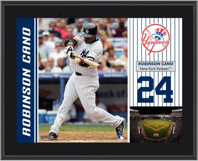Robinson Cano Plaque  Details: New York Yankees, Sublimted, 10x13, Mlb Plaque