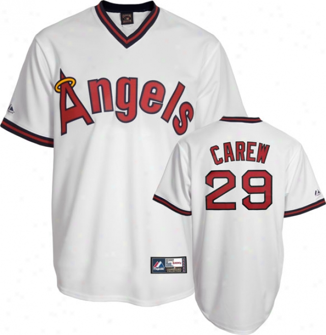 Rod Carew California Angels Copoerstown Replica Jersey