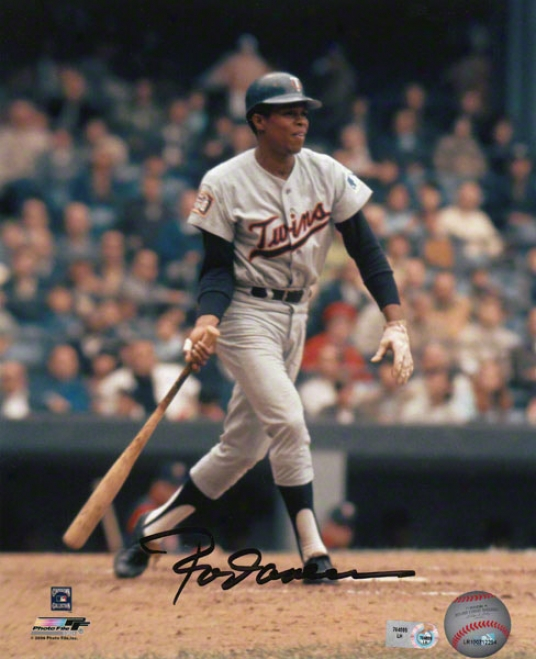 Twig Carew Minnesota Twins - Swing Follow Through - 8x10 Autographed Pgotograph