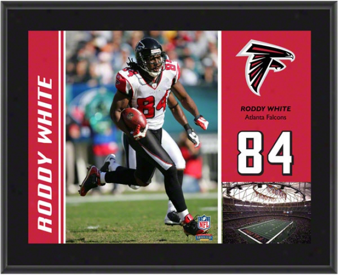 Roddy White Plaque  Details: Atlanta Falcons, Sublimated, 10x13, Nfl Plaque