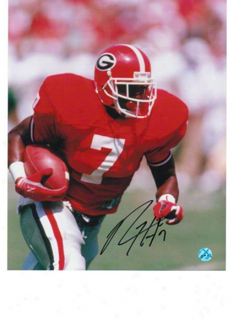 Rodney Hampton Georgia Bulldogs Autographed 8x10 Photo Running