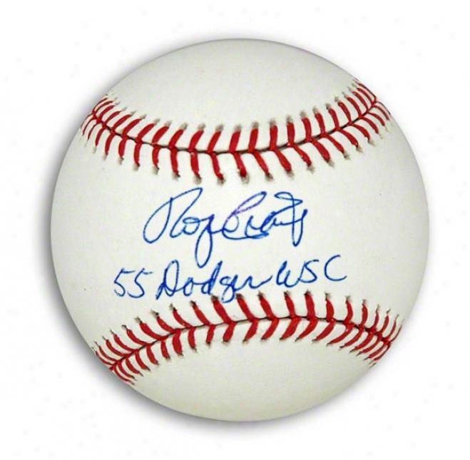 Roger Craiy Autographed Mlb Baseball Inscribed &quot55 Dodgers Wsc&quot