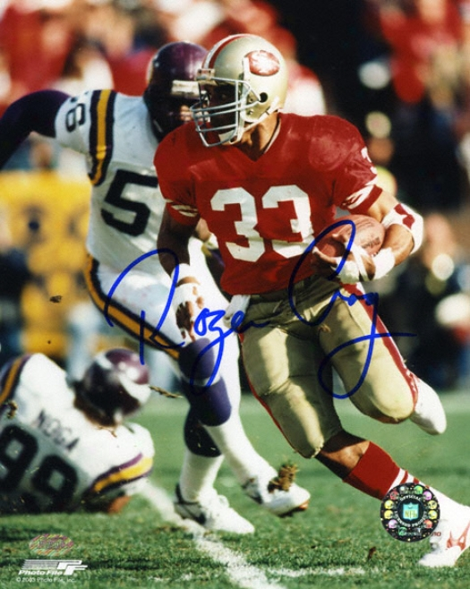 Roger Craig San Francisco 49ers 8x10 Autographed Photograph