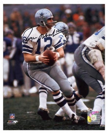 Roger Staubach Dallas Cowboys - Drop Back - Autographed 8x10 Photograph