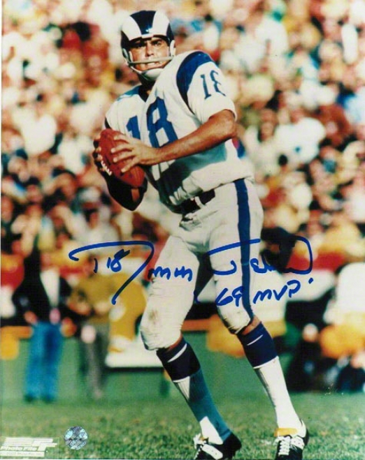 Roman Catholic Gabriel Autographed Los Angeles Rams 8x10 Photo Inscribed &quot69 Mvp&quot