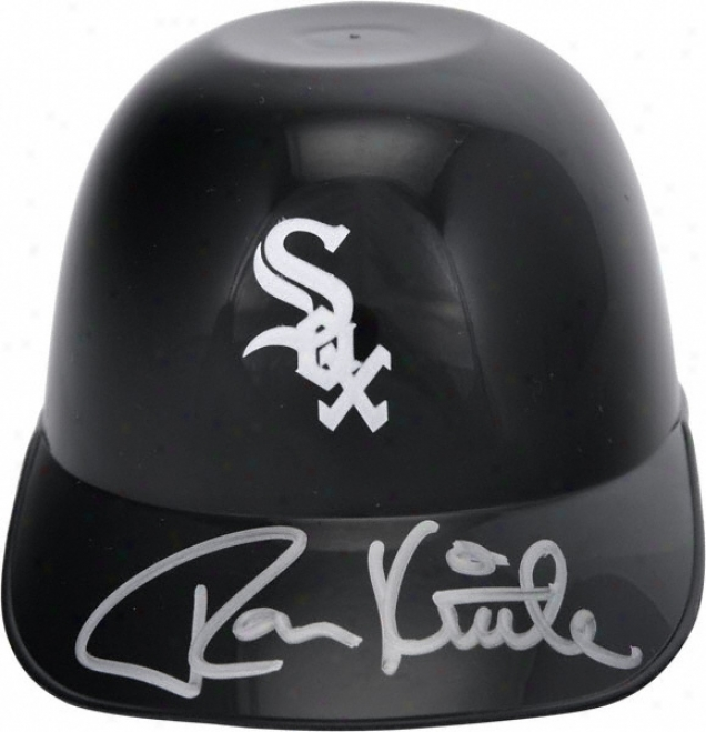 Ron Kittle Autographed Helmet  Details: Chicago White Sox, Micro Mini Batting Helmet