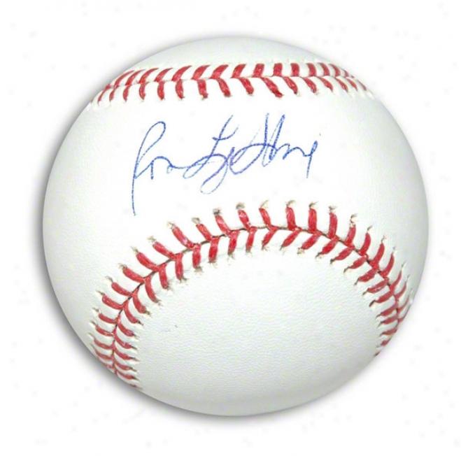 Ron Leflore Autographed Mlb Baseball