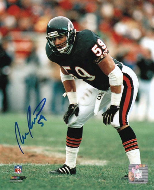 Ron Rivera Chicago Bears Autographed 8x10 Photograph