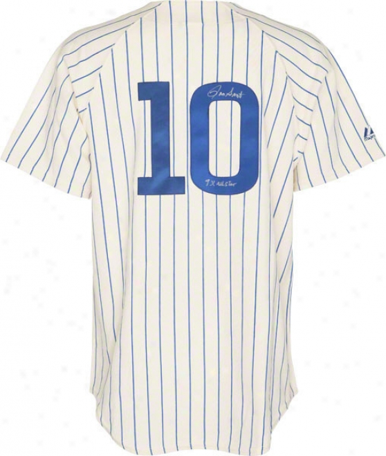 Ron Santo Chicago Cubs Autographed 1969 Throwback Jrsey W/ Inscription &quot9x The whole of Star&quot