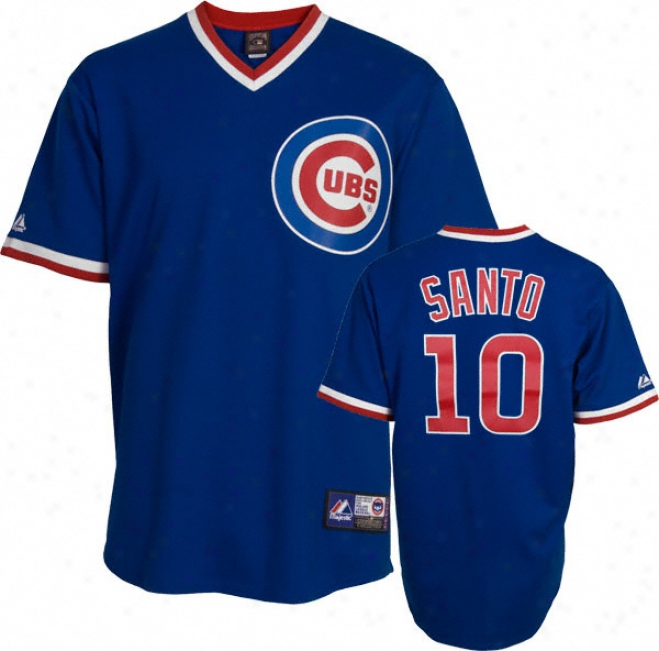Ron Santo Chicago Cubs Royal Blue Cooperstowh Replica Jersey