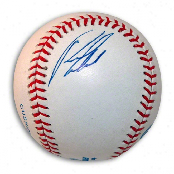 Rondell White Autographed Baseball